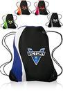 Blank 14W X 18H Color Splash Drawstring Backpacks