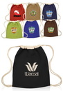 Blank 14W X 16H Jute Drawstring Backpacks