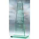 Custom GB1611 The Alfa Jade Glass Awards, Jade Glass Obelisk 5 1/2