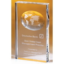 Custom OCGL41 Alfa Crystal Globe Awards, Crystal Illusion Globe 4 3/8