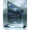 Custom SF5108 The Alfa Jade Glass & Starfire Collection, Starfire Clip Award 6 1/2