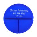 Custom 3 Individual Compartments Round Pill Box, 2 15/16
