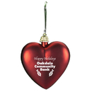 Custom Shatterproof Heart Ornament, 3 1/8
