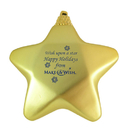 Custom Star Ornament with Decorative Cord, 3 1/2