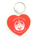 Custom Acrylic Keytag Heart, 1-7/8