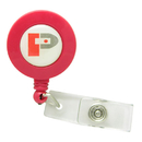 Custom Solid Color Retractable Badge Holder Round