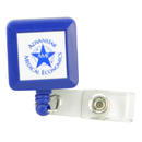 Custom Solid Color Retractable Badge Holder Square