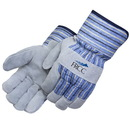 Custom Red Jersey Foam Lined Split Cowhide Work Gloves