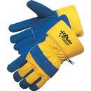 Custom Piled Lined Split Cowhide Work Gloves