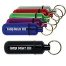Custom Assorted Colored Aluminum Id Holder With Keyring
