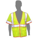 Custom Class 3 Compliant Highlight Mesh Safety Vest W/ Sleeves