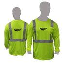 Custom Class 2 Compliant Striped Safety Long Sleeve T-Shirt