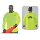 Custom High Visibility Safety Long Sleeve T-Shirt