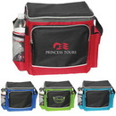 Custom 1014 600D Polyester Deluxe 12 Can Cooler Bag, 12 L x 10-1/4 H x 8-1/2 D