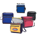 Custom 1015 Fine Nylon Deluxe 12 Can Cooler Bag (with Gusset Front Pocket), 10-1/2L x 11H x 7D