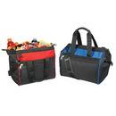 Custom 1041 600D Polyester Bi-Color 24 Can Cooler, 14 L x 12 H x 10 D