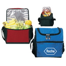 Custom 1134 420D Ripstop Nylon Deluxe Dual compartment Lunch Cooler, 9-1/2 L x 10 H x 6 D