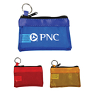 Custom 3000 Vinyl Transparent Key Chain Zipper Pouch, 4-1/2L x 3H