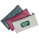 Custom 3005 Vinyl Zippered Bank Pouch, 11 L x 5-1/2 H