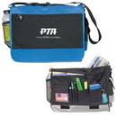Custom 4011 600D Polyester Deluxe Messenger Bag, 16 L x 12-1/2 H x 4 D