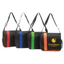 Custom 4142 90gsm non-woven fabric Eco Messenger Bag, 14 L x 12 H x 4 D