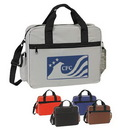 Custom 4148 600D Polyester Briefcase, 15 L x 12 H x 3.5 D