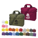 Custom 4200 50% Recycled 600D Polyester Splendor Brief Bag, 15-1/2 L x 12-1/2 H x 3-3/4 D
