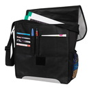 Custom 4229 600D Polyester/Non woven fabric Emerge Messenger Bag, 12L x 13H x 4-1/2D