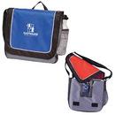 Custom 4691 600D Polyester/Nylon E-Runner Messenger Brief, 13-1/2 L x 12-1/2 H x 3-1/2 D