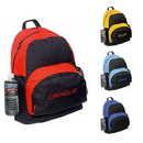 Custom 6008 600D Polyester Backpack, 14 L x 18 H 7 D