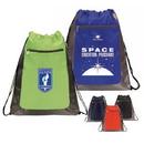 Custom 6210 210D Nylon/Doby Nylon Deluxe Drawstring Backpack, 14 L x 17-1/2 H