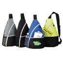 Custom 6212 600D Polyester Promo Sling Backpack, 11-1/2 L x 17-3/4 H x 6 D