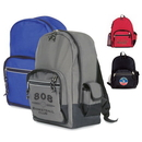 Custom 6220 Microfiber Safety Backpack with Reflective Strip, 12L x 16-1/4H x 6-1/2D