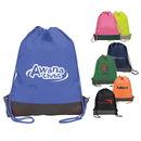 Custom 6225 420D Nylon/1680D Nylon (bottom) Gusset Cinch Bag w/Bottom Protector, 13L x 18H x 2D
