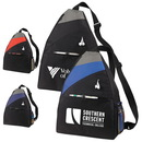 Custom 6281 600D Polyester Slope Sling Pack (with iPod Outlet), 12L x 17-1/2H x 6D