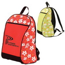 Custom 6810 Floral Canvas Backpack, 12 L x 18 H x 7 D