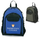 Custom 6902 600D Polyester Campus Backpack, 14 L x 18 H x 9 D