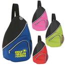 Custom 6903 600D Polyester Downtown Sling Pack, 11-1/2 L x 15 H x 3-3/4 D