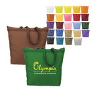 Custom 9304 50% Recycled 600D Polyester Splendor Large Zipper Tote, 18 L x 16 H x 4-1/2 D
