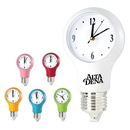 Custom CK1211 Light Bulb Wall Clock With Auto Light Sensor, 8L x 13-7/8H x 4D