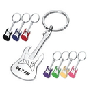 Custom KC1202 Metal Guitar Shape Key Chain, 1-1/4L x 4H x 1/8D