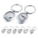 Custom KC1213 Metal Swivel Sports Key Chain, 1-3/8L x 1-3/4H x 1/4D