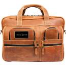 Canyon Outback Leather Custom Cs229 Casa Grande Canyon Briefcase, Deboss