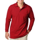 Blue Generation BG7208 - Men's Patch Pocketed Long Sleeve Pique Polo