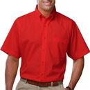 Blue Generation BG7210s - Men's Button Down Collar Short Sleeve Budget Friendly Poplin