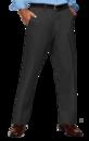 Blue Generation BG8001P - Men's Teflon Treated Twill Flat Front Pants with DuPont Teflon Fabric Protector