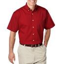 Blue Generation BG8213S - Men's 100% Cotton Short Sleeve Signature Twill Button Down Collar Shirt