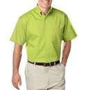 Blue Generation BG8213S - Men's 6.5 Ounce Colorfast Cotton Twill Hemmed Sleeves Shirt