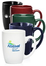 Custom 14 oz Mocha Coffee Mugs, Stoneware, 3.375
