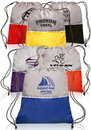 Custom Easy-Go Drawstring Backpack, 210D pu Polyester, 16.5